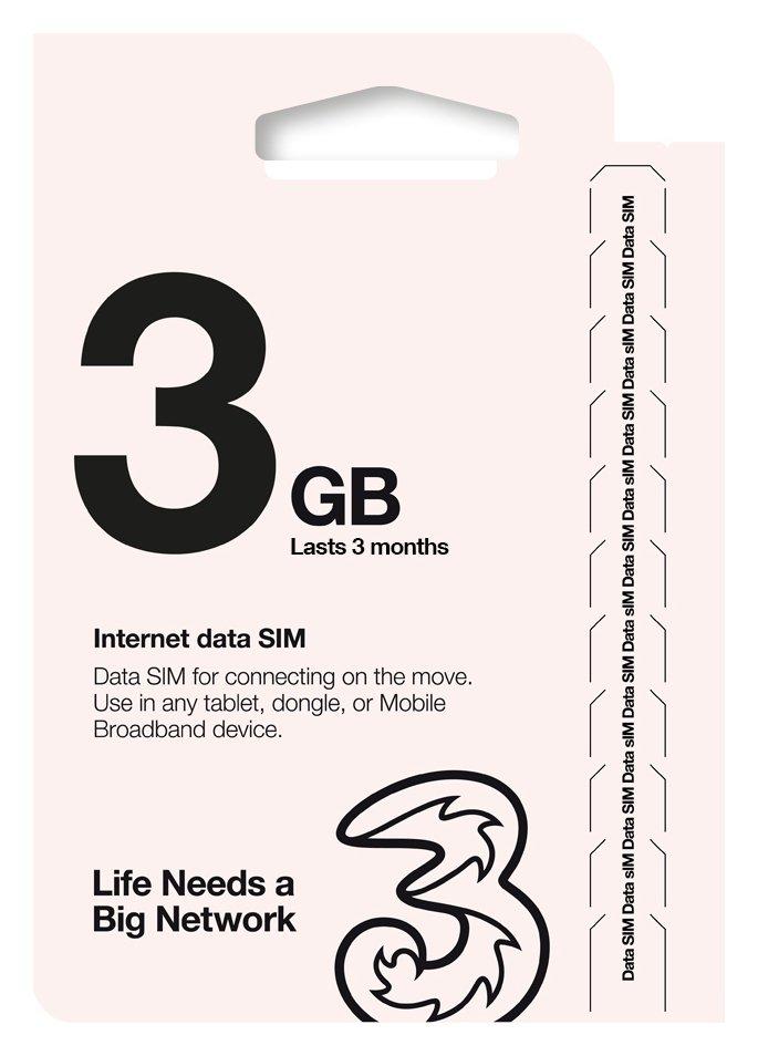 Three 3GB Pay As You Go Trio Data Sim. Review thumbnail